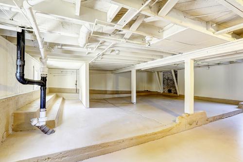 empty house basement
