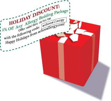 Holiday Discount-5% Off Any Allergy Bedding Package