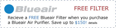 Free Blueair Filter with Purchase of Blueair Air Purifier