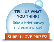 Take our survey, earn a prize!