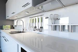 Modern clean kitchen counter
