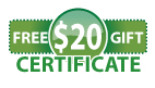 Receive a $20 Gift Certificate with Your 501 or 601 Purchase.