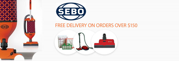 SEBO Vacuum Cleaners - Free Shipping