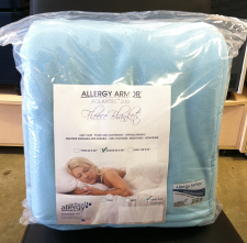 Allergy Armor Polartec Fleece Blanket Now Available in Navy, Ivory, and Light Blue