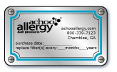 achooallergy.com sticker containing important information