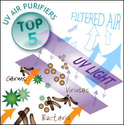 Top five uv air purifiers for pathogens