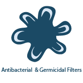 Germicidal Air Purifier Filters & UV Light - Destroy Pathogens & Microbes