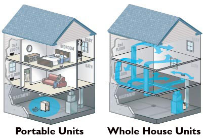 Whole House vs Portable Dehumidifiers