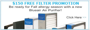 Free filter with purchase of 501 air purifier.