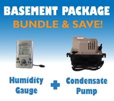 Danby 70 Pint Dehumidifier Basement Package