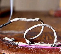 Burning incense may be hazardous