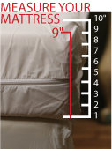 Measure your mattress for allergy bedding