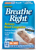 BreatheRight Clear Nasal Strips