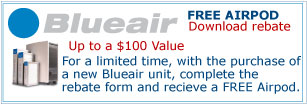Free Airpod with Purchase of a Blueair Air Purifier