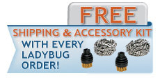 Ladybug Tekno Steam Cleaners - Free Shipping and Tuff Kitt!
