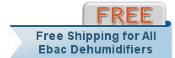 Free Shipping with purchase of Ebac CD30 Dehumidifier