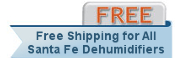 Santa Fe Force Dehumidifier Shipping
