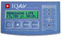 IQAir Multi Gas GC Air Purifier Controls