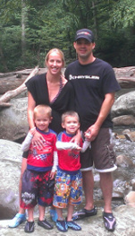 Jennifer Rutter, Founder of No Nuts Moms Group, and Her Family