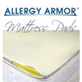 Allergy Armor Memory Foam Mattress Topper