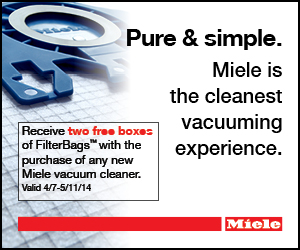Two Free Boxes of Filter Bags with the Purchase of Every Miele Vacuum Cleaner