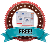 For a Limited Time Receive TWO FREE Boxes of Filter Bags with the Purchase of the Miele Calima HEPA Vacuum Cleaner