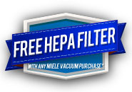 Free HEPA Filter with Purchase of any Miele Vacuum Cleaner