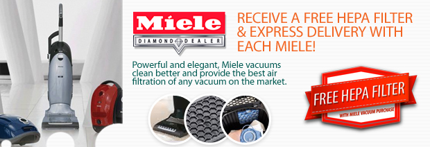 Free HEPA Filter & Express Shipping with Every Miele Vacuum Cleaner
