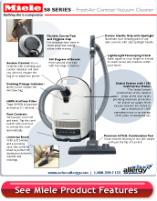 Miele Fresh Air S8390 Vacuum Cleaner Details