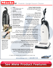 Miele FreshAir S7 Upright Vacuum Detail