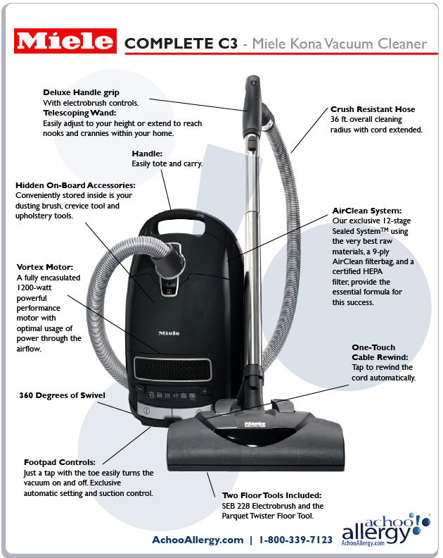 miele kona vacuum details