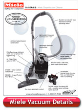 Miele Onyx Canister Vacuum Cleaner Details