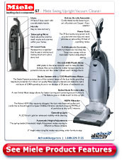 Miele Swing Upright Vacuum Detail