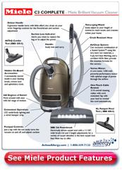 Miele C3 Complete Brilliant Canister Vacuum Details
