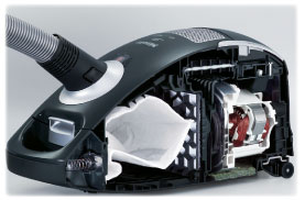 Miele Canister Vacuum Cleaner - A Look Inside