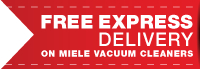 Free Next Day Delivery with the Purchase of the Miele Calima HEPA Vacuums