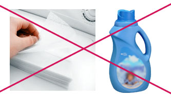 Steam Cleaner Maintenance - Do Not Use fabric Softener on Cleaning Cloths