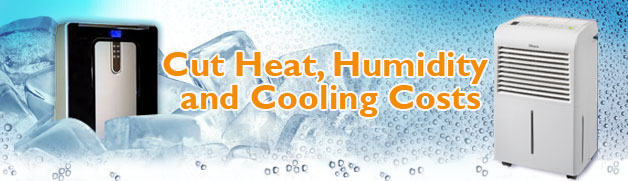 Portable Air Conditioners and Dehumidifiers cut cooling costs and humidity