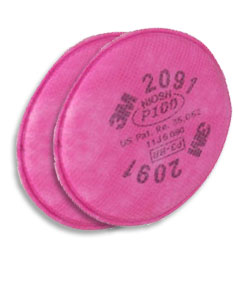 3M 2091 Mask Replacement P100 Filters