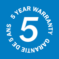Reliable 5 Year Warranty