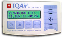 IQAir Dental Air Purifier Controls