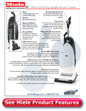 Miele Cat and Dog Vacuum Cleaner Detailed specs