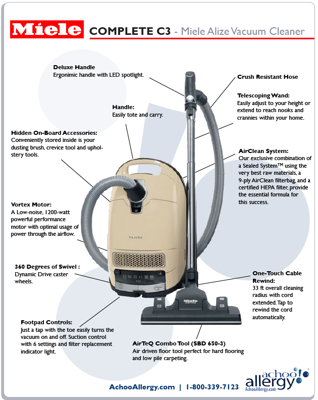 Miele Alize Vacuum Cleaner Details