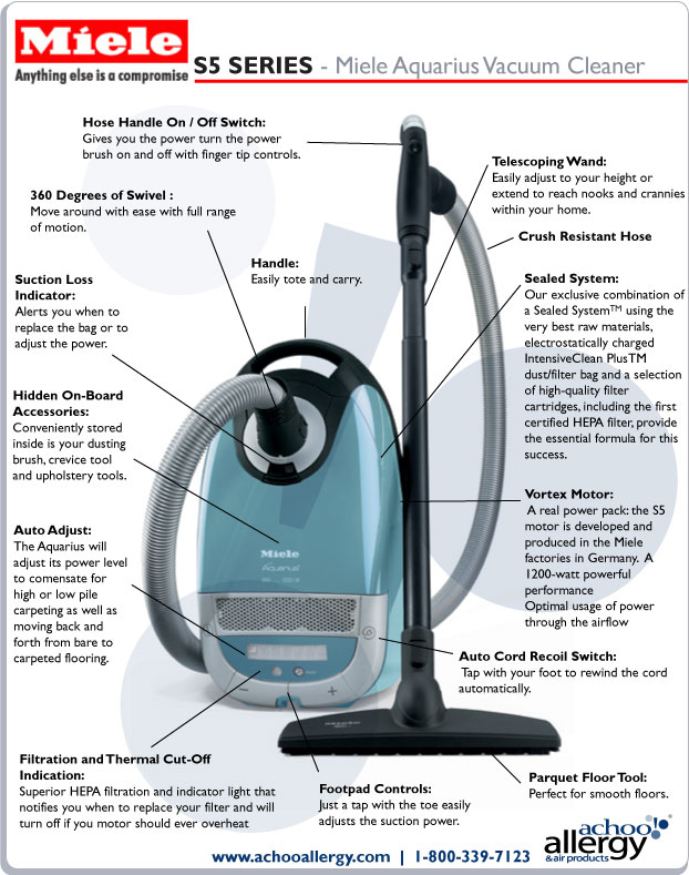 Miele Aquarius Vacuum Cleaner Details