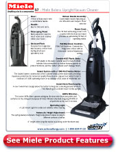 Miele Bolero Upright Vacuum Detail