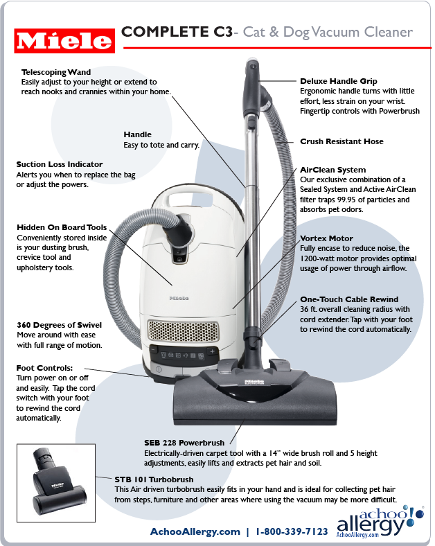 Miele Cat and Dog Vacuum Cleaner Details