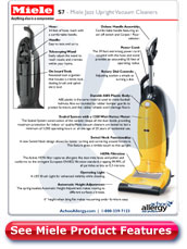 Miele Jazz Upright Vacuum Cleaner Details