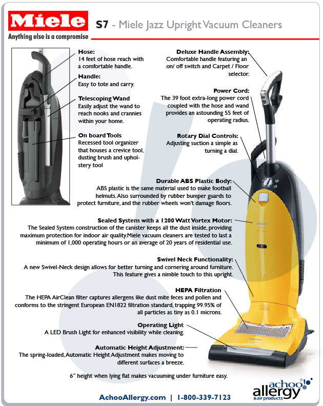 Miele S7 Upright Vacuums><br>