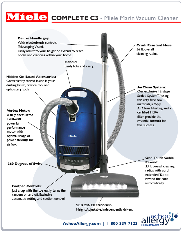 Miele Marin Vacuum Cleaner Details