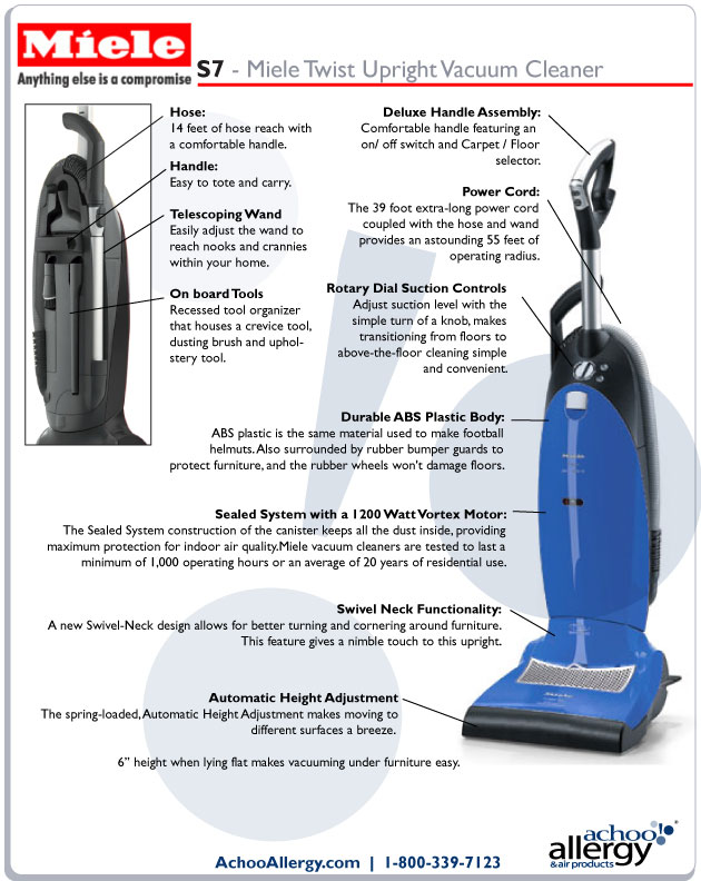 Miele S7 Upright Vacuums